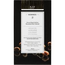 Korres Argan Oil Ageless Colorant Νο 5.17 Καστανό Ανοιχτό Μπεζ