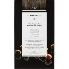 Korres Argan Oil Ageless Colorant Νο 6.17 Ξανθό Σκούρο Μπεζ 50ml