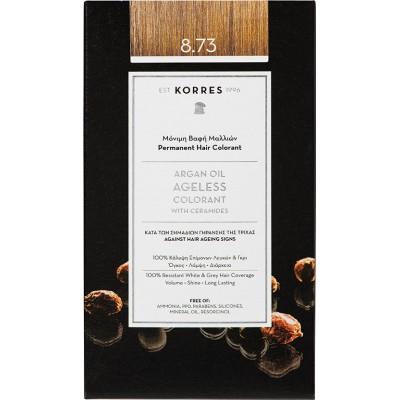 Korres Argan Oil Ageless Colorant Νο 8.73 Χρυσή Καραμέλα