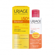 Uriage Bariesun Cream Very High Protection SPF50+ 50ml & Eau Thermal Micellar Water Sensitive Skin 100ml
