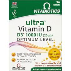 VITABIOTICS ULTRA VITAMIN D (ULTRA-D3) 96tabs