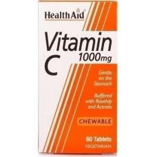 Health Aid Vitamin C 1000mg 30 μασώμενες ταμπλέτες