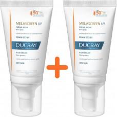 Ducray Melascreen UV Rich Cream Dry Touch Brown Spots Dry Skin SPF50+ 2x40ml