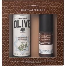 Korres Pure Greek Olive Cedar Set.