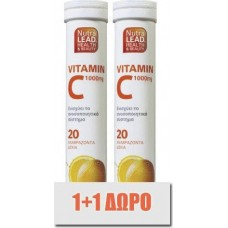 NutraLead Vitamin C 1000mg 2 x 20 αναβράζοντα δισκία